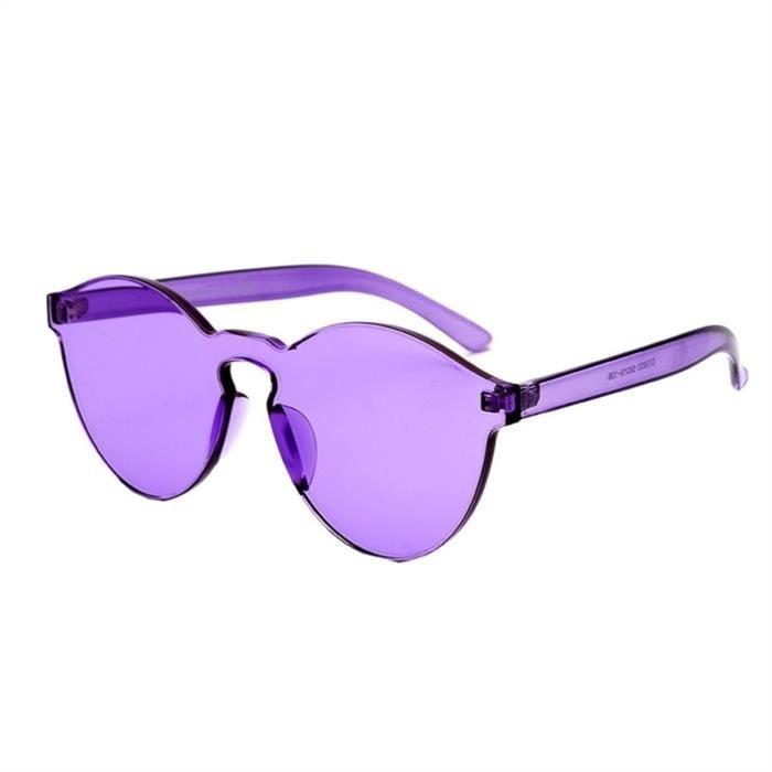 Couleur de et Violet Lunettes soleil Transparent femmes hommes bonbons pour 4qrFA4