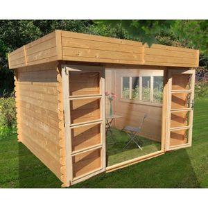Abri jardin toit plat achat vente abri jardin toit for Abri de jardin toit plat pvc