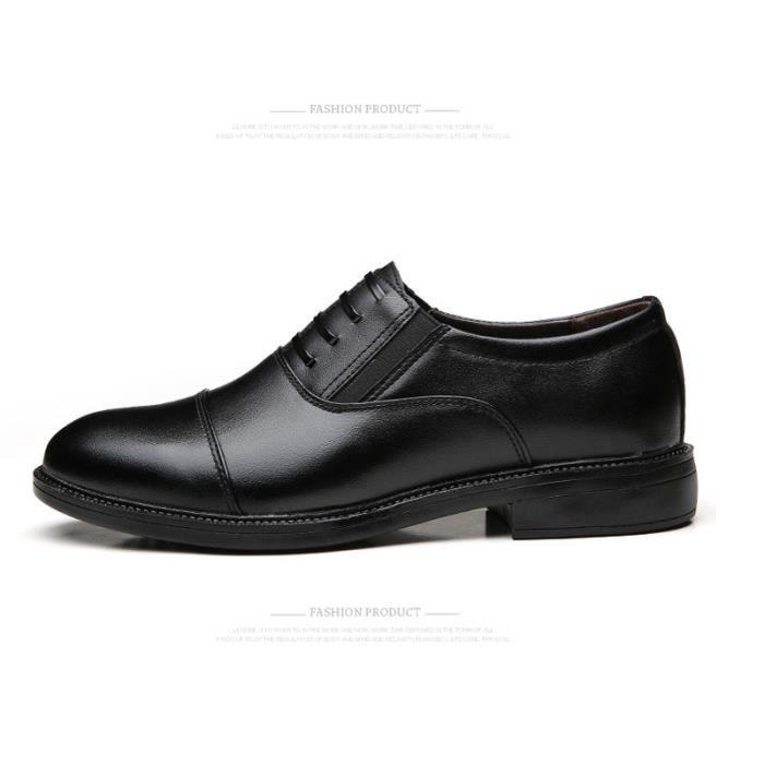 JOZSI Chaussures Hommes Cuir Respirant mode Homme chaussure de ville SHT-XZ199Noir38