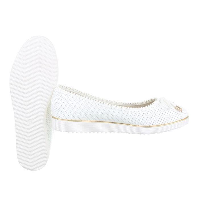 Femme chaussures ballerines escarpin blanc 40