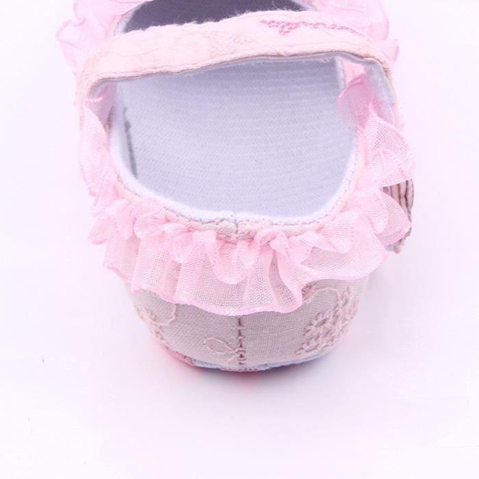 BOTTE Bébé nouveau-né bébé Floral Print Sneaker antidérapant doux Sole Toddler Chaussures@RoseHM IdZpVQOrQ