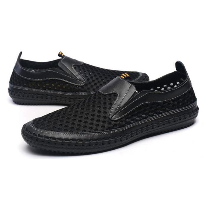 Chaussures d'eau Mesh Chaussures de marche Casual Slip-on Mocassins WIFVV Taille-38