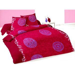 parure de lit 140x200 achat vente parure de lit 140x200 pas cher cdiscount. Black Bedroom Furniture Sets. Home Design Ideas