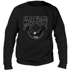 SWEATSHIRT Sweat Aigle Johnny Hallyday - Homme - Noir