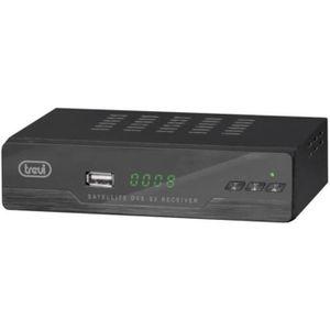 TREVI SAT 3387 FA Décodeur sattelite - DVB-S2 - Full HD 1080p - USB 2.0 - Noir