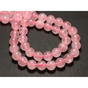 ÉCARTEUR PIERCING 10pc - Perles de Pierre - Quartz Rose Boules 8mm 4
