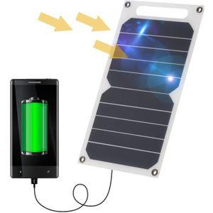 KIT PHOTOVOLTAIQUE 10W Panneau solaire Chargeur USB 5V portatifs ultr