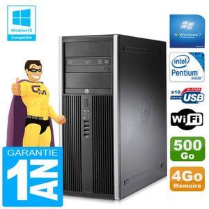 UNITÉ CENTRALE + ÉCRAN PC Tour HP Compaq 8200 Intel G630 Ram 4Go Disque 5