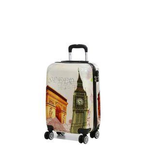 VALISE - BAGAGE MADISSON - Valise cabine colorée  London / Paris A