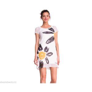 Modele Femme Blanche Blanc Robe Vente White Desigual Achat Y7vbg6yf