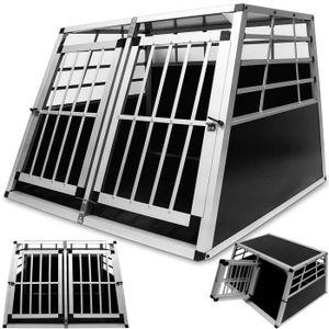 CAISSE DE TRANSPORT Cage de transport XL pour chien - Avec 2 portes po