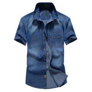 superior quality 6d06f 4cad2 chemise-jean-homme-manche-courte-casual-chemisette.jpg