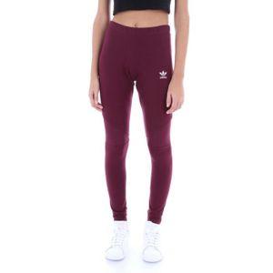 Adidas Femme Achat Coton Leggings Vente Dh3023 Bordeaux shCtQrd