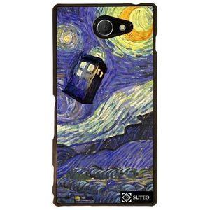 COQUE - BUMPER Coque Sony Xperia M2 - La nuit étoilée de Vincent