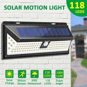APPLIQUE EXTÉRIEURE TEMPSA Lampe Solaire Applique Murale 118 LED Avec