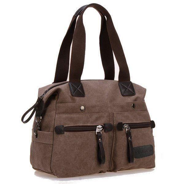 SBBKO4304Ekphero femmes hommes toile de poche multi sacs à main occasionnels oreiller épaule sac bandoulière sacs Café