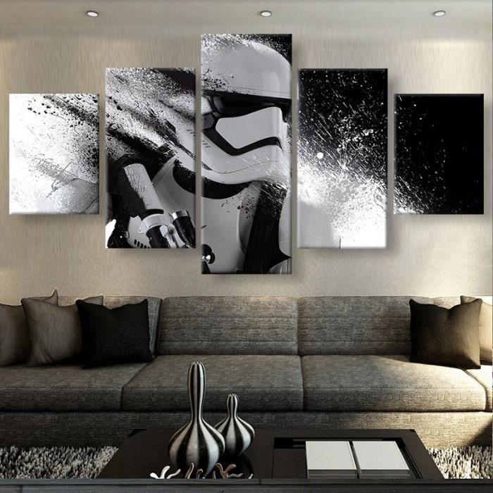 toile peinture sans cadre pas tir pas encadr 5 pi ce chambre d coration star wars image. Black Bedroom Furniture Sets. Home Design Ideas