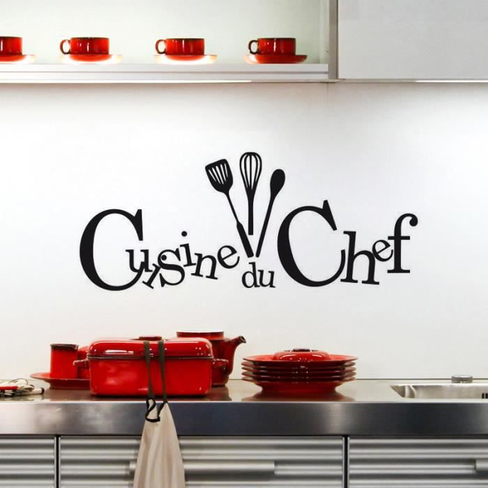 Stickers cuisine citation achat vente stickers cuisine - Decoration du cuisine ...
