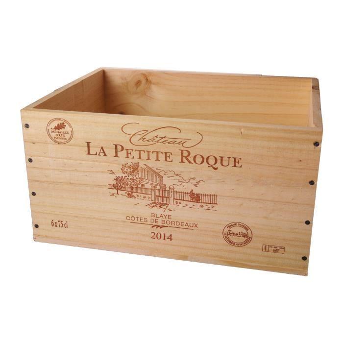 caisse bois vin vide achat vente caisse bois vin vide pas cher soldes d s le 10 janvier. Black Bedroom Furniture Sets. Home Design Ideas