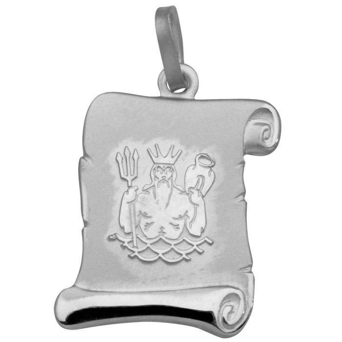 Basic Silber - Basique Argent SZ202 Pendentif Femme Zodiac Aquarius Argent Réf 34205