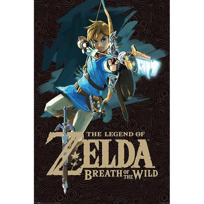 Poster The Legend Of Zelda Breath Of The Wild Game Cover Link
