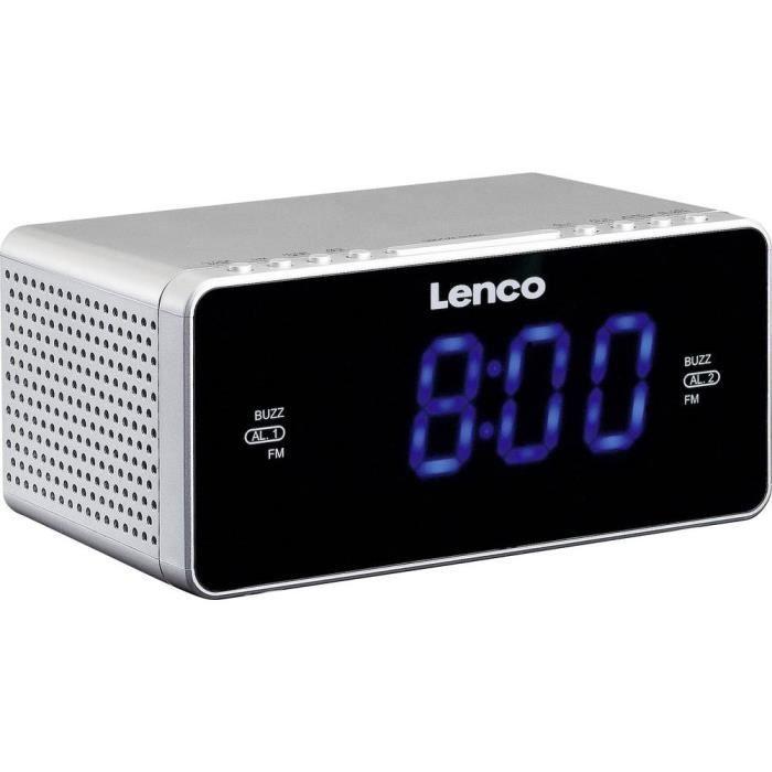 Radio-réveil Fm Cr-520 Argent Fonction De Charge La Batterie