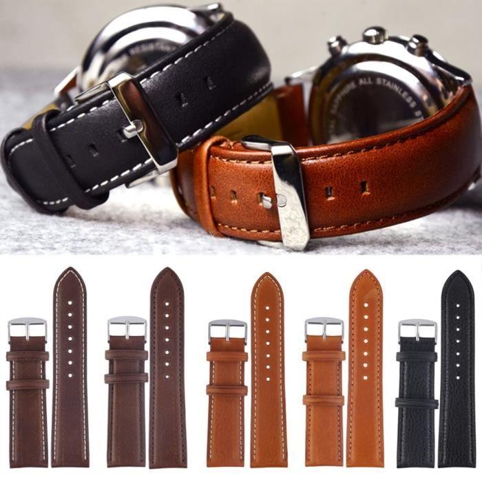 MONTRE Bracelet de montre blanc avec fil d'aiguille une b