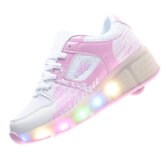Led Lumière Heelys Sneakers Enfant Jazzy Patin À Roulettes Chaussures uDLO849T