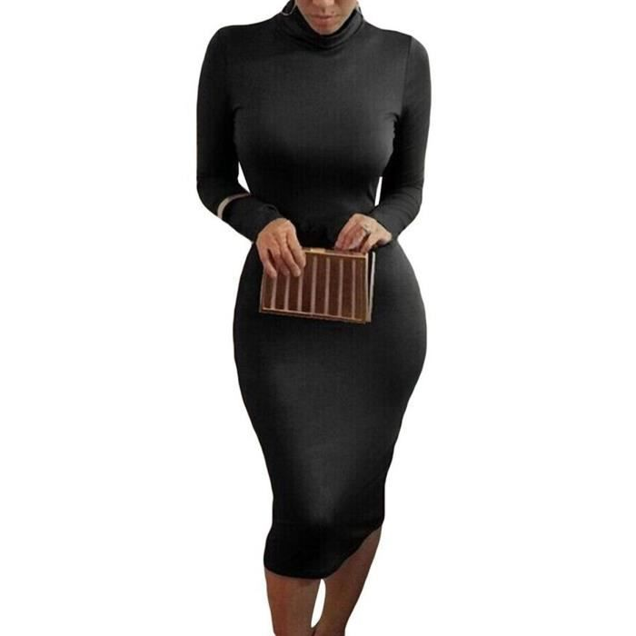 robe Pure Slim couleur sac hanche manches longues sexy