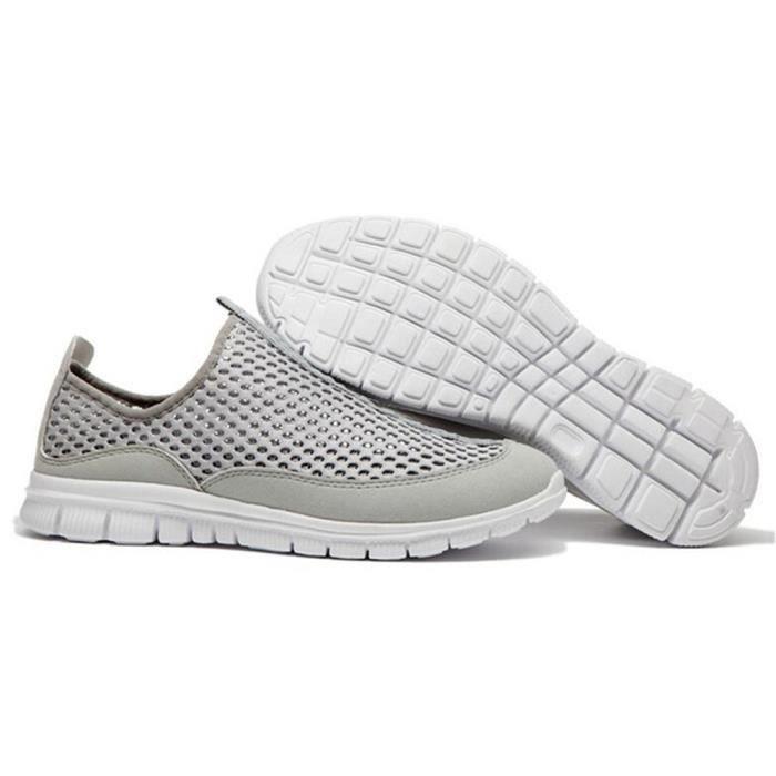 Chaussures homme Beau Marque De Luxe Haut qualité Nouvelle arrive 2018 ETE Poids Léger Antidérapant Durable Chaussure Taille 40-46
