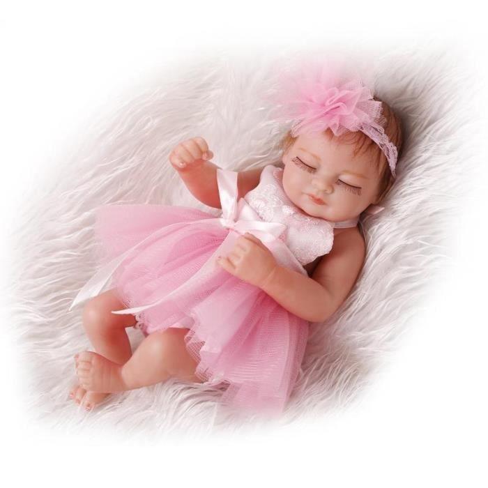 15b7a5fbc9b57 26 cm Doux Corps Silicone Reborn Baby Poupée Jouet Pour Filles Vinyle  Nouveau-Né Fille Bébés Poupées Enfants Enfant Cadeau Fille
