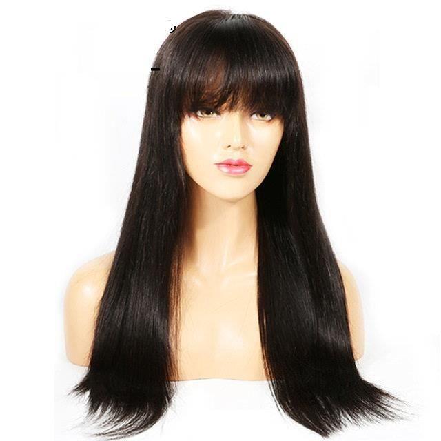 Perruque Bresilienne Cheveux la frange raides