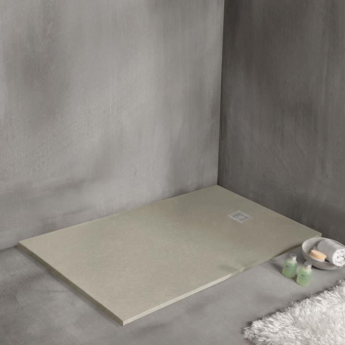 receveur de douche strato extra plat beige 120 x 90 cm. Black Bedroom Furniture Sets. Home Design Ideas