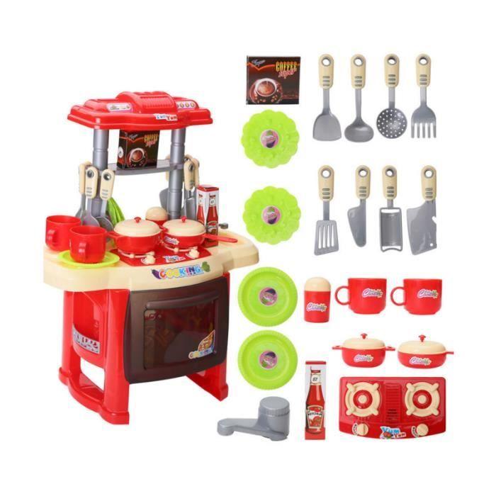Jeu D'imitation – mini cuisine pour enfant rouge - Achat / Vente ...