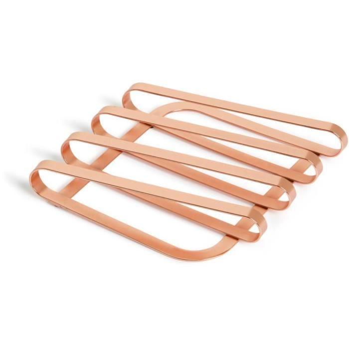 Dessous de plat design en métal Pulse Cuivre - Achat / Vente dessous ...
