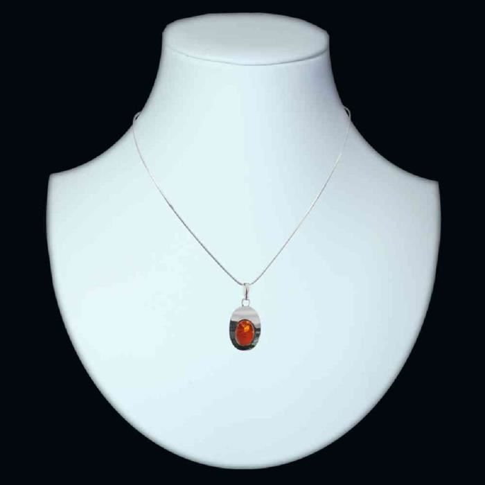 In Collections - 241a203442l100 - Collier Femme - Argent 925-1000 - Ambre FW0S4