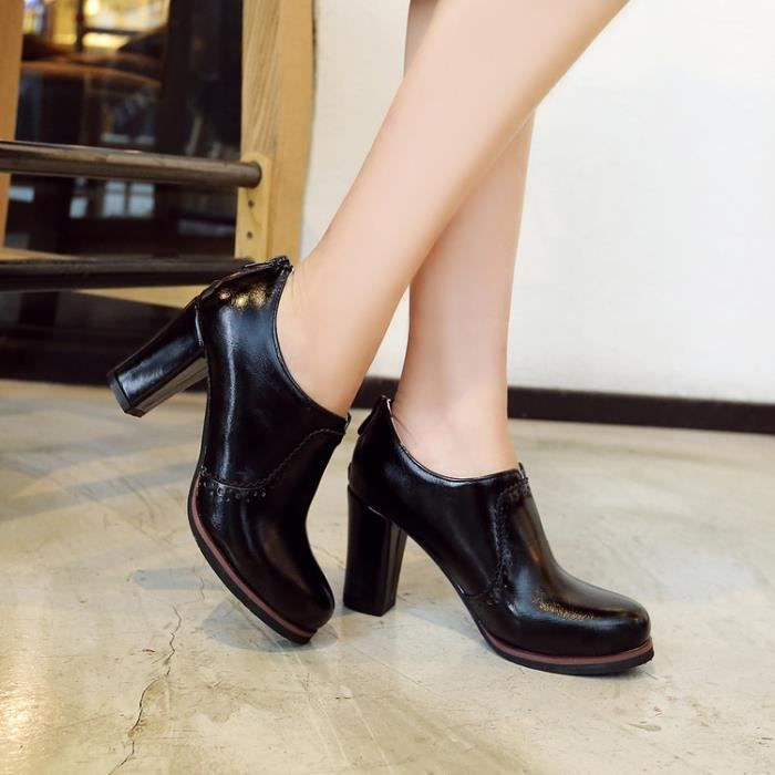 bottes courtes-Pur Heel Couleurpais des femme...