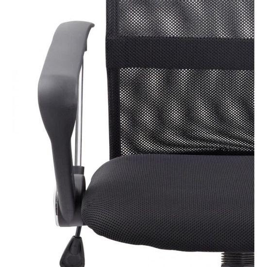 De Siège Chaise Respirant Bureau 0509010 Noir Fauteuil Ergonomique Pn80wOkX