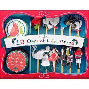 USTENSILES DECORATION  Assortiment Caissettes et décors Cupcakes Comptine