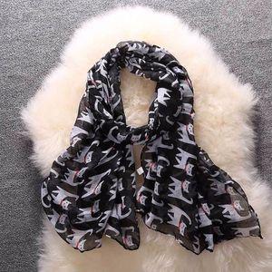 7c44c106a88d Benjanies®Femmes dames écharpe mode bowknot chat motif d impression long écharpe  châle chaud
