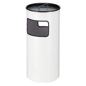 POUBELLE - CORBEILLE Combiné cendrier-poubelle métallique, capacité 50
