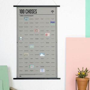 AFFICHE - POSTER Affiche 100 choses à faire  - DOIY