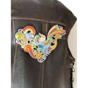 ACCESSOIRE CASQUE patch dorsal oiseau tatoo aux couleurs franches  2