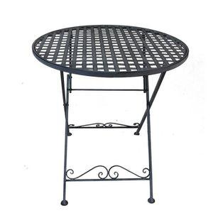 Table ronde de jardin en fer - Achat / Vente pas cher