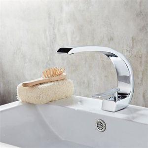 ROBINETTERIE SDB Robinet lave-mains Mitigeur de Lavabo à Bec évier,