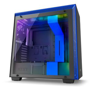 BOITIER PC  NZXT Boîtier PC H700i Noir/Bleu (CA-H700W-BL )
