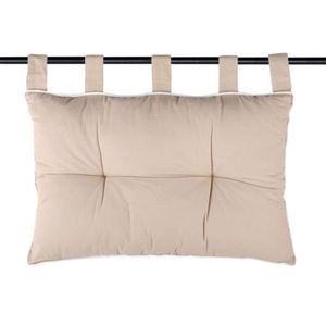 TÊTE DE LIT Tête de lit coussin coton passepoil écru 45x70 DUO