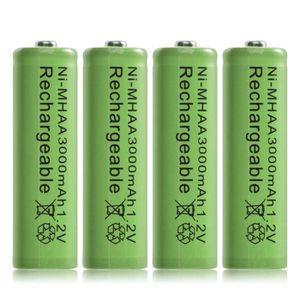BATTERIE VÉHICULE 4pcs Ni MH AA 3000mAh 1.2V piles rechargeables bat