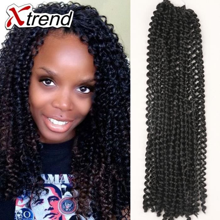 Nouveau1 Paquet 18 Freetress Water Wave Crochet Braids Cheveux