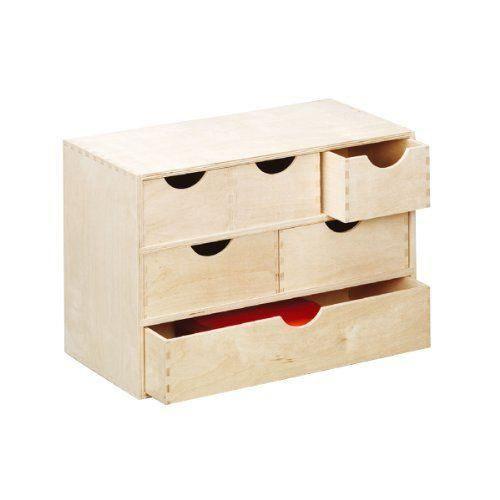 zeller 13193 coffret 6 tiroirs en bouleau 40 x 20 x 28 cm achat vente tiroir vendu seul. Black Bedroom Furniture Sets. Home Design Ideas